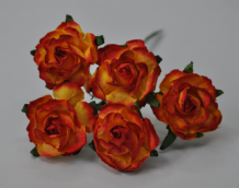 RED YELLOW FLORIBUNDA (2.5-3.0cm) Mulberry Paper Roses